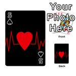 Hart bit Playing Cards 54 Designs  Front - Spade5