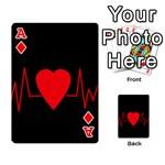 Hart bit Playing Cards 54 Designs  Front - DiamondA