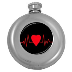 Hart Bit Round Hip Flask (5 Oz) by Valentinaart