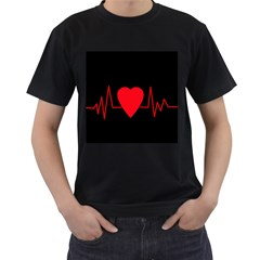 Hart Bit Men s T Shirt (black)
