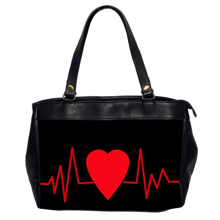 Hart bit Office Handbags (2 Sides)