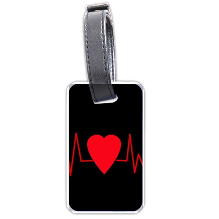 Hart bit Luggage Tags (One Side)