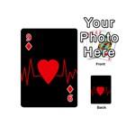 Hart bit Playing Cards 54 (Mini)  Front - Diamond9