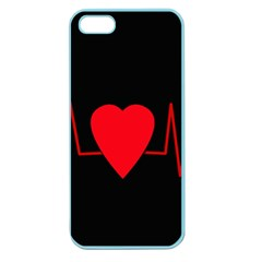 Hart Bit Apple Seamless Iphone 5 Case (color) by Valentinaart