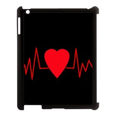 Hart Bit Apple Ipad 3/4 Case (black) by Valentinaart