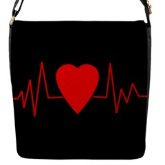Hart Bit Flap Messenger Bag (s) by Valentinaart