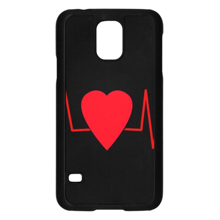 Hart bit Samsung Galaxy S5 Case (Black)