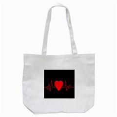Hart bit Tote Bag (White)