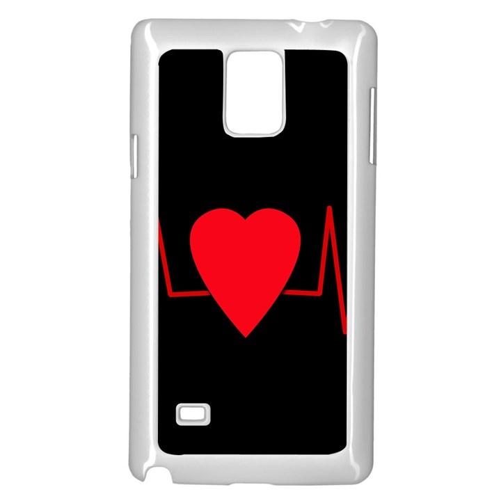 Hart bit Samsung Galaxy Note 4 Case (White)