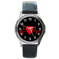 Hart Bit Round Metal Watch