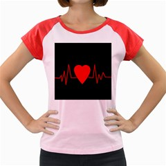 Hart Bit Women s Cap Sleeve T Shirt by Valentinaart