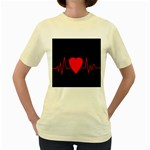 Hart bit Women s Yellow T-Shirt Front