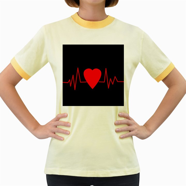 Hart bit Women s Fitted Ringer T-Shirts
