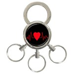 Hart bit 3-Ring Key Chains Front