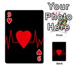 Hart bit Playing Cards 54 Designs  Front - Heart9
