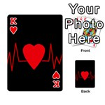 Hart bit Playing Cards 54 Designs  Front - HeartK