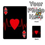Hart bit Playing Cards 54 Designs  Front - HeartA