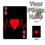 Hart bit Playing Cards 54 Designs  Front - Diamond7