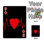 Hart bit Playing Cards 54 Designs  Front - Diamond9