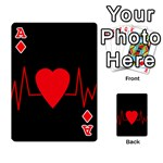 Hart bit Playing Cards 54 Designs  Front - DiamondA