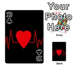 Hart bit Playing Cards 54 Designs  Front - Club10