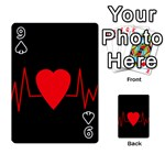 Hart bit Playing Cards 54 Designs  Front - Spade9