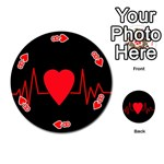 Hart bit Playing Cards 54 (Round)  Front - Heart8