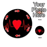 Hart bit Playing Cards 54 (Round)  Front - Heart9