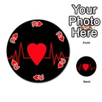Hart bit Playing Cards 54 (Round)  Front - Heart10