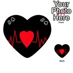 Hart bit Playing Cards 54 (Heart)  Front - ClubJ