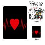 Hart bit Multi-purpose Cards (Rectangle)  Back 18