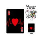 Hart bit Playing Cards 54 (Mini)  Front - HeartK