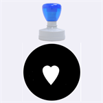Hart bit Rubber Round Stamps (Large) 1.875 x1.875  Stamp