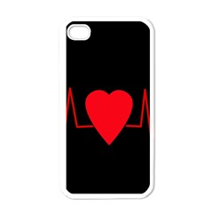 Hart Bit Apple Iphone 4 Case (white) by Valentinaart