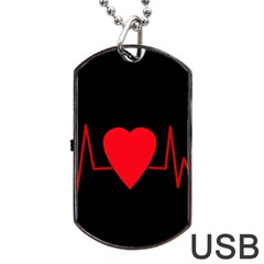 Hart Bit Dog Tag Usb Flash (two Sides)