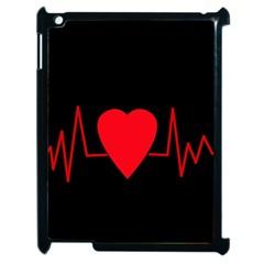 Hart Bit Apple Ipad 2 Case (black) by Valentinaart