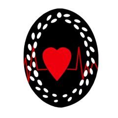 Hart Bit Ornament (oval Filigree)  by Valentinaart