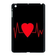 Hart Bit Apple Ipad Mini Case (black) by Valentinaart