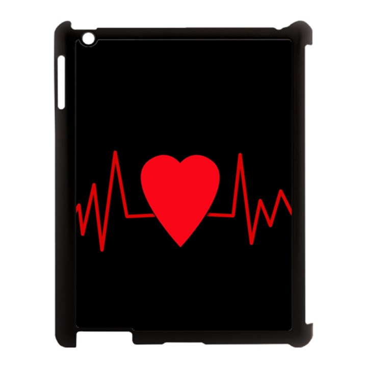 Hart bit Apple iPad 3/4 Case (Black)