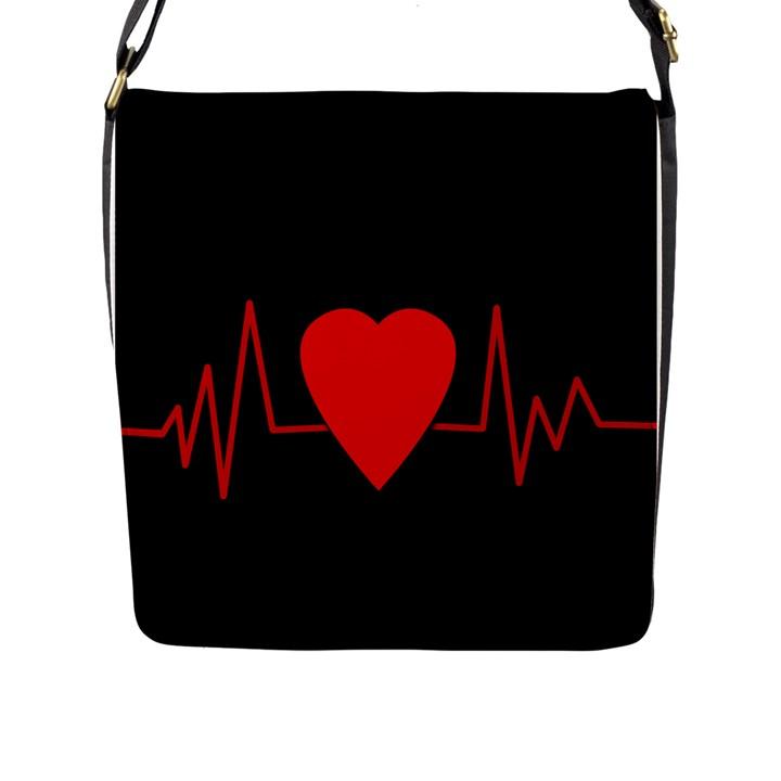 Hart bit Flap Messenger Bag (L)