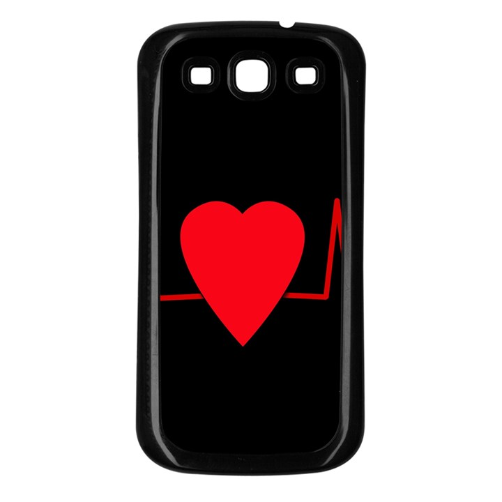Hart bit Samsung Galaxy S3 Back Case (Black)
