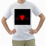 Hart bit Men s T-Shirt (White)  Front