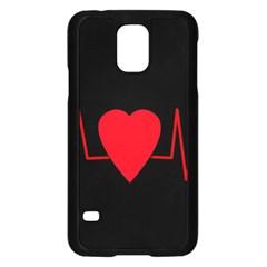 Hart Bit Samsung Galaxy S5 Case (black) by Valentinaart