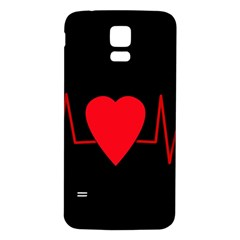 Hart Bit Samsung Galaxy S5 Back Case (white) by Valentinaart