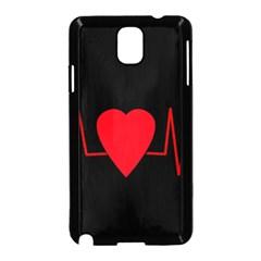 Hart Bit Samsung Galaxy Note 3 Neo Hardshell Case (black) by Valentinaart