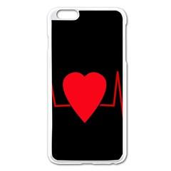 Hart Bit Apple Iphone 6 Plus/6s Plus Enamel White Case by Valentinaart