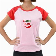 I Am Hot  Women s Cap Sleeve T Shirt