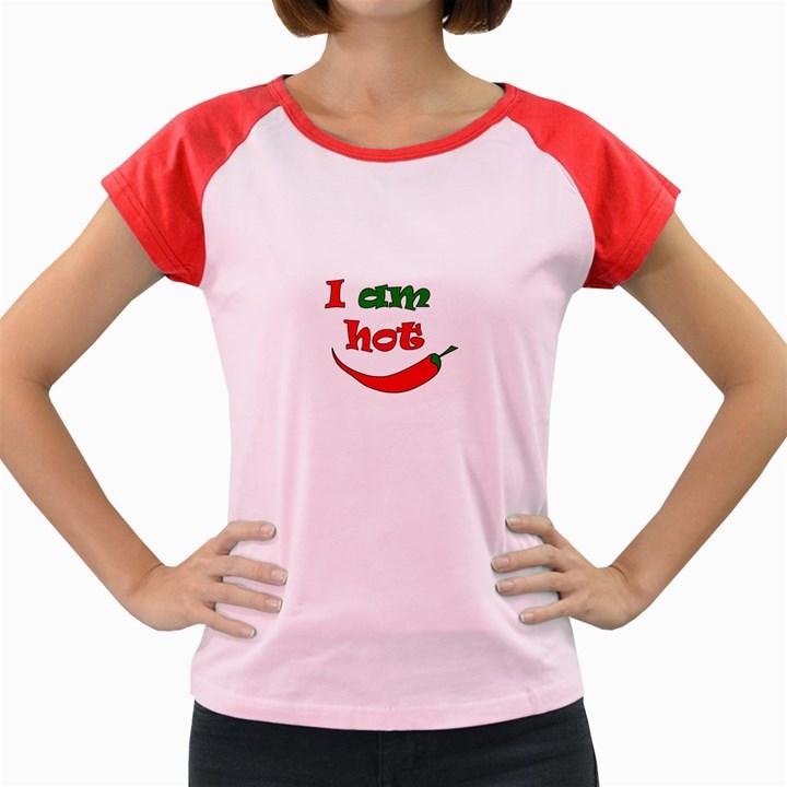 I am hot  Women s Cap Sleeve T-Shirt