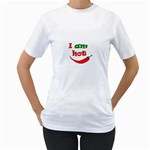 I am hot  Women s T-Shirt (White) (Two Sided) Front