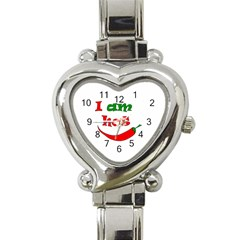 I Am Hot  Heart Italian Charm Watch by Valentinaart